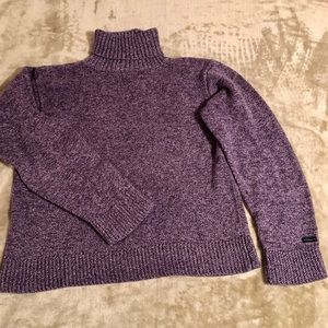 Columbia Purple Soft Turtleneck Sweater Sz L